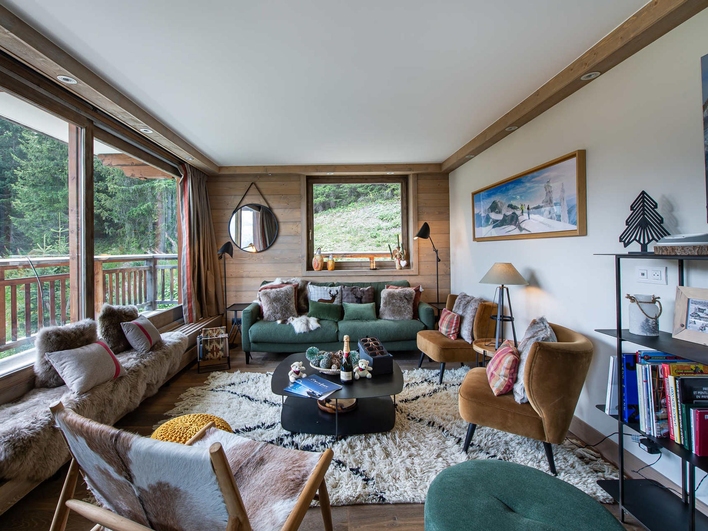 Appartement spacieux situé dans un quartier calme à deux pas des pistes et offrant une magnifique vue sur les montagnes